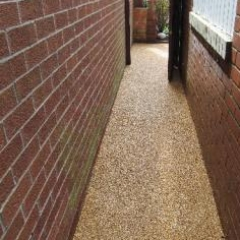 Resin bound pathway surfacing Sunderland residential