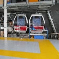 Resin flooring at Emirates Airlines cable car  London