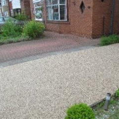 Resin exterior concrete driveway resurfacing North East