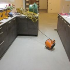 Solacir microscreed London kitchen