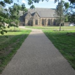Resin Bonded Gravel pathways St Peters Church
