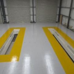 HGV Garage Floor Painting Middlesbrough Cleveland